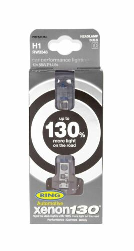 130/% More Light Rw3348 Ring Xenon 130 H1 Car Headlight Bulb Twin Pack