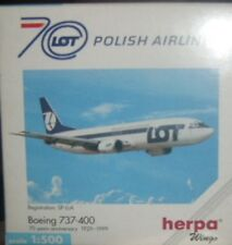 BOEING 737-400 LOT POLISH AIRLINES scala 1/500 HERPA (501330)