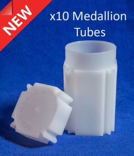 10 Square Coin Safe Tube Lot Medallion Silver Round Size 40.8 mm Quality Storage