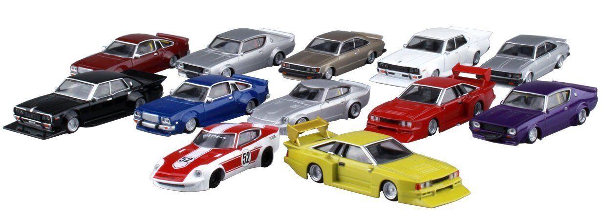Aoshima 1 64 coche clásico japonés gurachan Colección parte .10 (12 piezas) Caja Nuevo