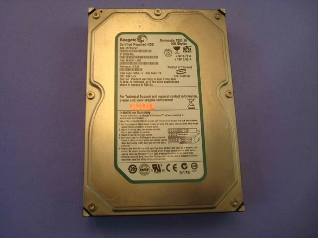 Seagate Barracuda 7200.10 ST3320820A E IDE 320GB Hard Drive P/N:9BJ03G-305