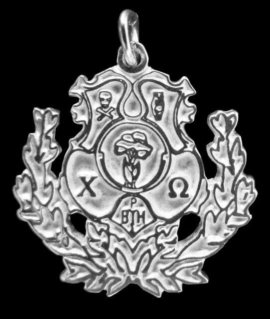 Chi Omega, ΧΩ, .925 Sterling Silver Crest Large Charm By McCartney