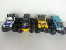 Lot of 4 Tonka Maisto Hot Wheels Diecast Metal Monster Trucks CJ Jeeps Pepsi