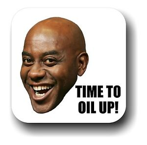 s l300 ainsley harriott time to oil up! internet meme drink coaster, gift
