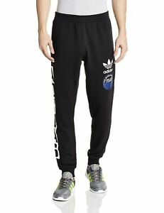 Detalles de Adidas Originals Superstar Grp Pantalón de Chándal NEGRO HOMBRE Sudor Cálido