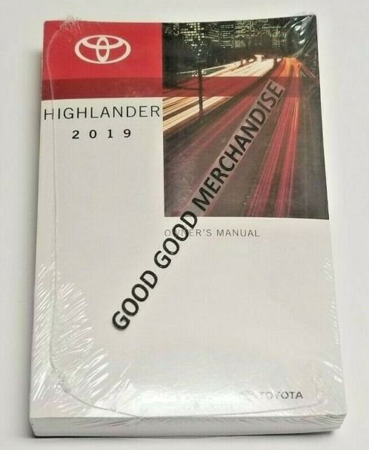 2019 Toyota Highlander Se Owners Manual Manual Guide