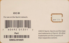 Sprint ICC ID Nano SIM Card for iPhone 5 - SIMGLW406R