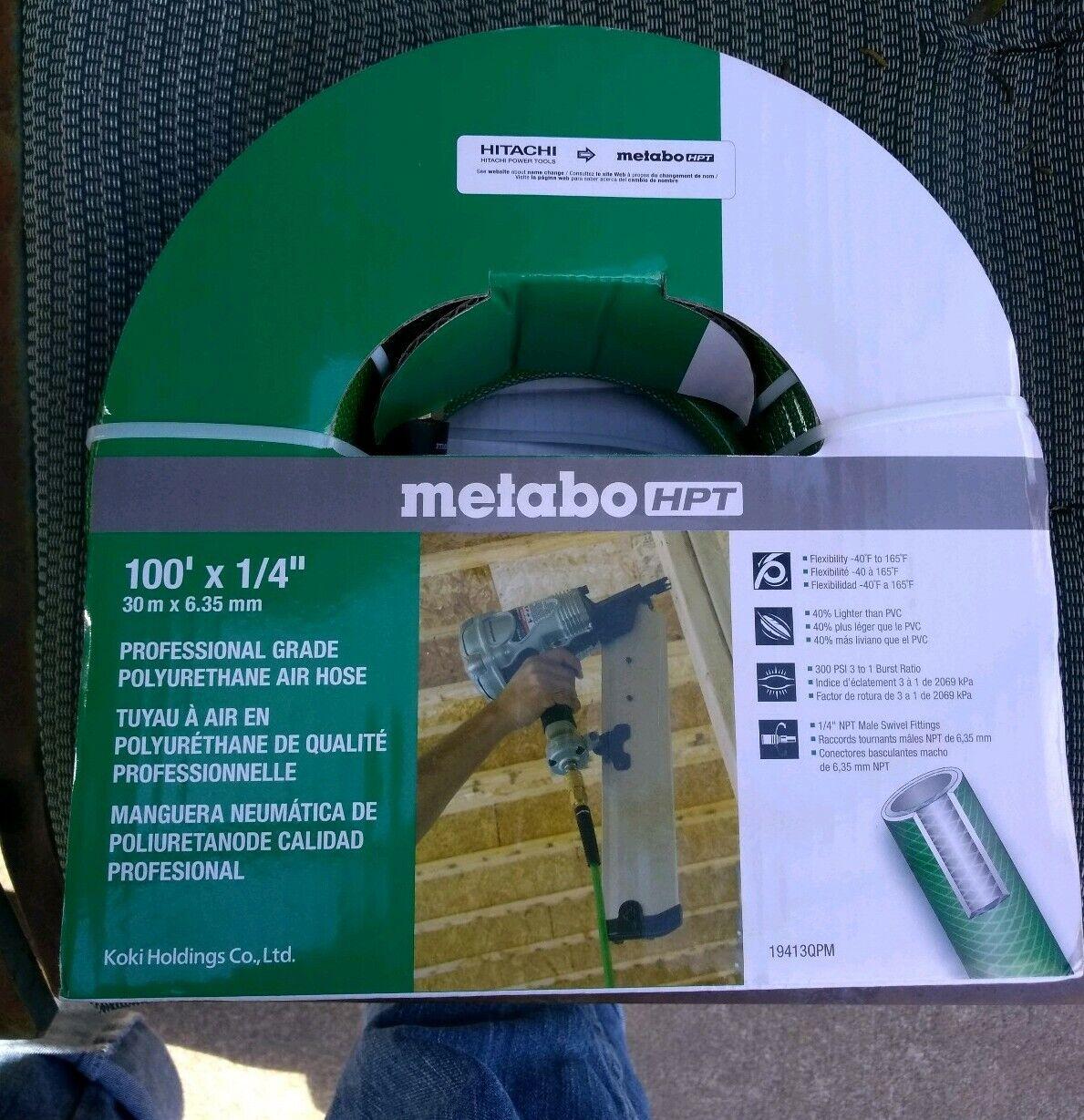 Metabo HPT 19413QPM Air Nailer Hose Professional Grade Polyurethane