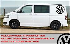 """Volkswagen VW Xl 17"""" logo Aufkleber Grafik X2 Transporter T5 T4 Reisemobil"""