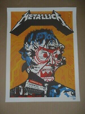 Metallica Webster Hall concert poster screen print gig art NYC New York City