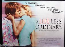 A LIFE LESS ORDINARY 1997 QUAD POSTER DANNY BOYLE EWAN McGREGOR CAMERON DIAZ