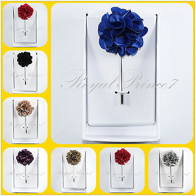 New Men/'s Suit brooch chest buckle brooch Pin ROSE Floral flower lapel pin PL30