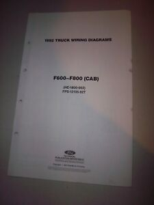Details about 1992 Ford Truck CAB Foldout Wiring Diagram F600 F700 on