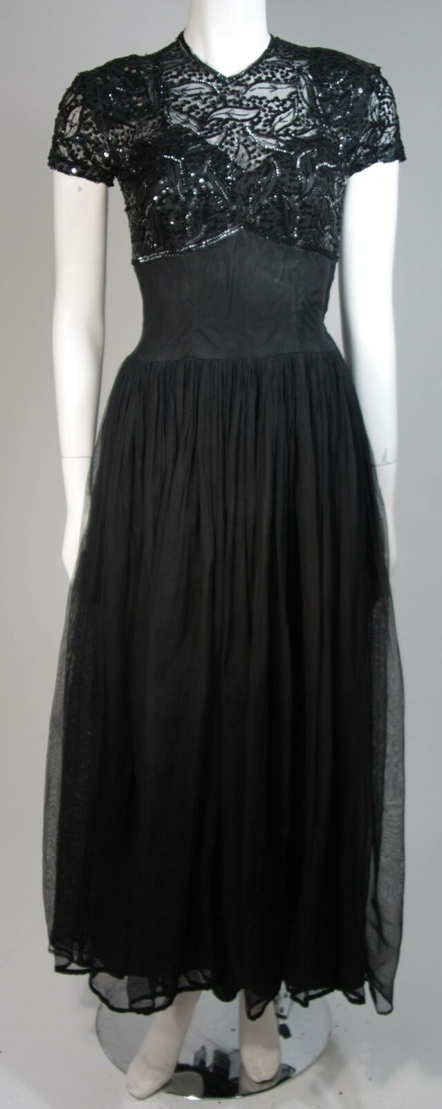CEIL CHAPMAN Attributed Black Gown Size Small - image 2
