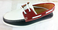 Mens Formal Smart Casual Lace Up Boat Shoes Sizes 6 7 8 9 10 11 White Red Black
