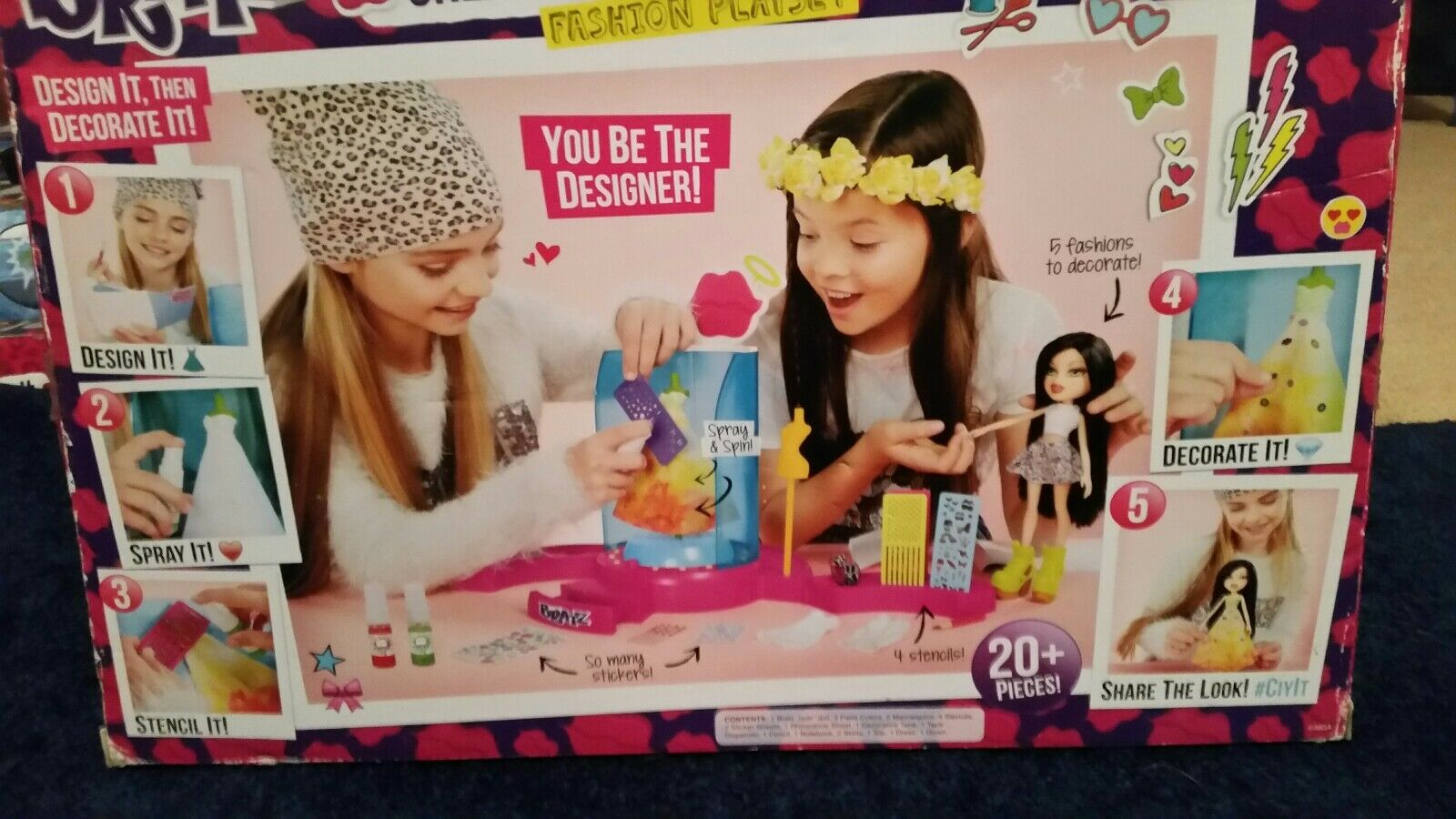 BRATZ DOLLS CREATE IT YOURSELF FASHION PLAYSET PLAYSET PLAYSET 20+ PIECES AND JADE DOLL INCLUDED 3c06a3
