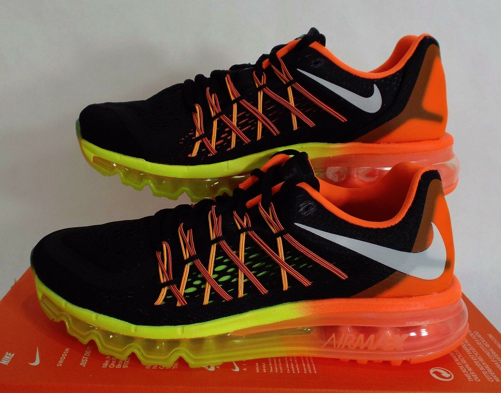New Mens 6.5 NIKE Air Max 2018 Black Hyper Crimson Run Shoes 190 698902-004