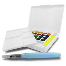 Sakura Koi Watercolour Paint Field Sketch Box - Brush, Sponges and 24 Colours