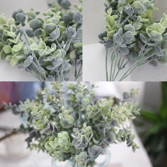 Artificial Eucalyptus Plant Fake Silk Flowers Money Leaves Garden ...