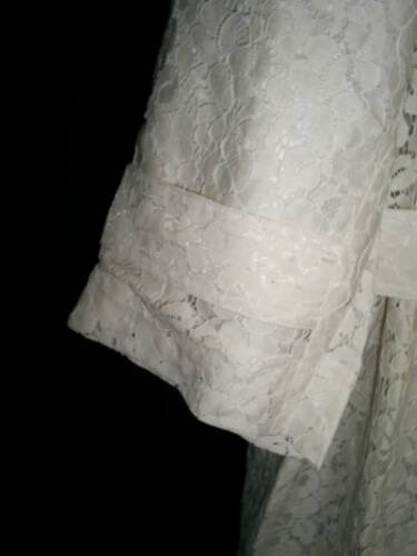 2x Party Lace Ivory Bryant Trenchcoat Event Lined Janie Ny Mod Duster Belted UqAwnXp