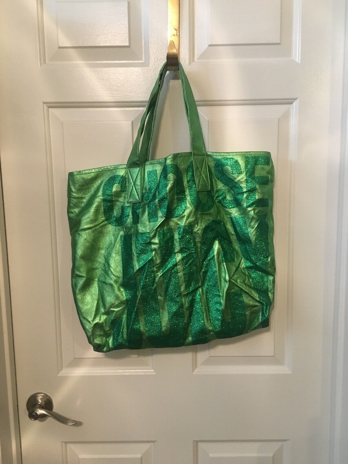 Juicy Couture Leather Glitter Tote Bag