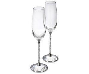 Swarovski Crystalline Toasting Flutes Set Of 2 Ebay