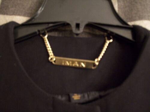 Guld Iman Collection Front Sz Sort Coat Small City Platinum Snap Luksus Couture 1w7qz57xg