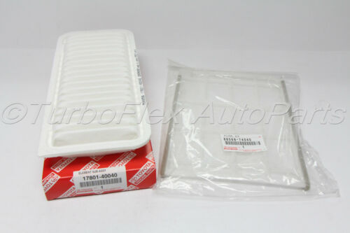 Scion iQ 2012-2015 Air Filter Cabin Filter Kit 17801-40040 88568-74040