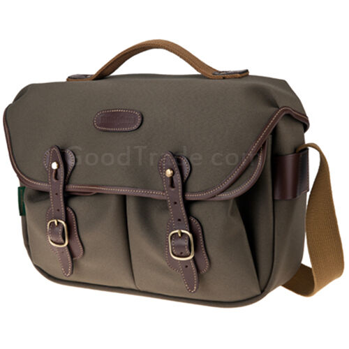 BILLINGHAM Hadley Pro Camera bag Sage FibreNyte Chocolate Leather