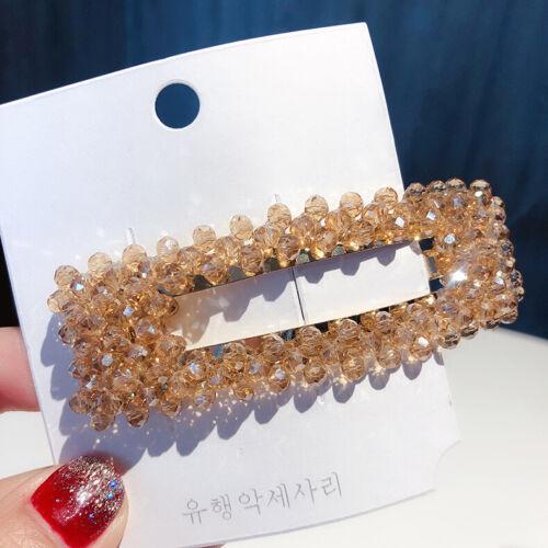 1Pc de Mujer con Estrás el Pelo Pinza Pin Cristal Letras De Horquilla diapositiva Broches más