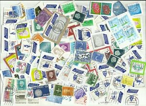 Netherlands-postage-stamps-x-130-on-amp-off-paper-used-Batch-3