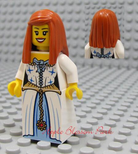 Baukästen & Konstruktion Neu Lego Pirates Orange Haar Weiblich Minifig Weiß Blaues Kleid/Rock Prinzessin
