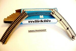 5206 MARKLIN HO - 10 x TEGENBOCHT WISSELS 5202/VOIES COURBES MÄRKLIN (D2101790)