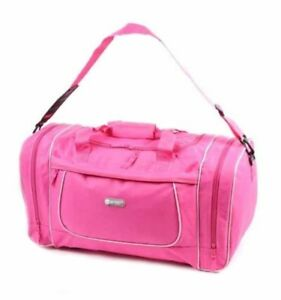 4d332cd348 Image is loading Womens-Pink-Overnight-Weekend-Bag-Gym-Holdall-Ladies-