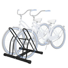 Two Bicycle Bike Stand Racor Garage Floor Storage Organizer Cycling Rack Max