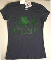 Womens Boston Red Sox Celtic Signs S/s T Shirt By Majestic Medium