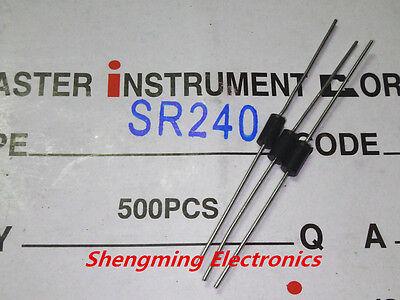 50pcs sr240 sb240 2a 40v schottky diodes do-15