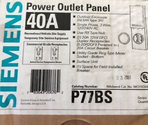 New-SIEMENS-Temporary-Power-Outlet-Panel-P77BS-Nema-3R-Outdoor