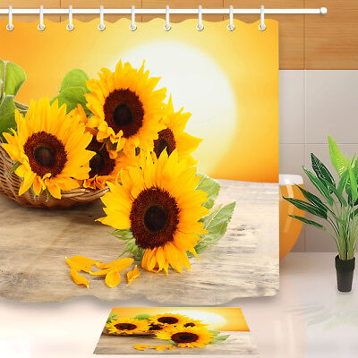 Bathroom Shower Curtain Sunflowers in The Sunset Curtains with Hook Bath Decor