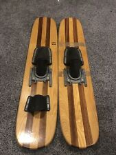Vintage AMF Voit Trick Water Skis - Wood - See The Photos