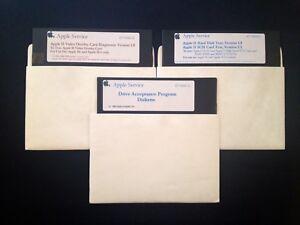 Apple-Service-Disks-Set-of-3-Apple-II-Home-Computer