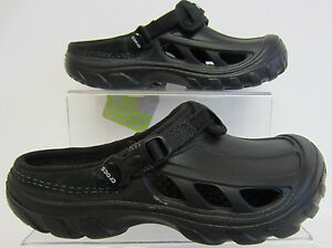 Crocs Crostrail Boys/Men's Black Sandals/Clogs UK3 & UK4 (G1)