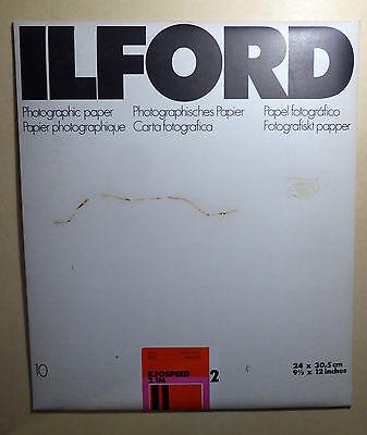 Ilford Ilfospeed 2.1m Pe-papier 24 X 30,5 Cm Glänzend 10 Blatt Schwarzweiß-foto