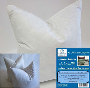 2 22 X 22 Pillow Insert 51oz White Goose Down 2 Oversized