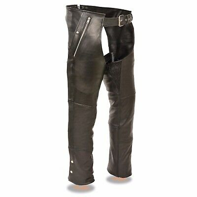 Milwaukee Leather Men's Four Pockets Thermal Lined Naked Leather Chaps **ML1191 | eBay