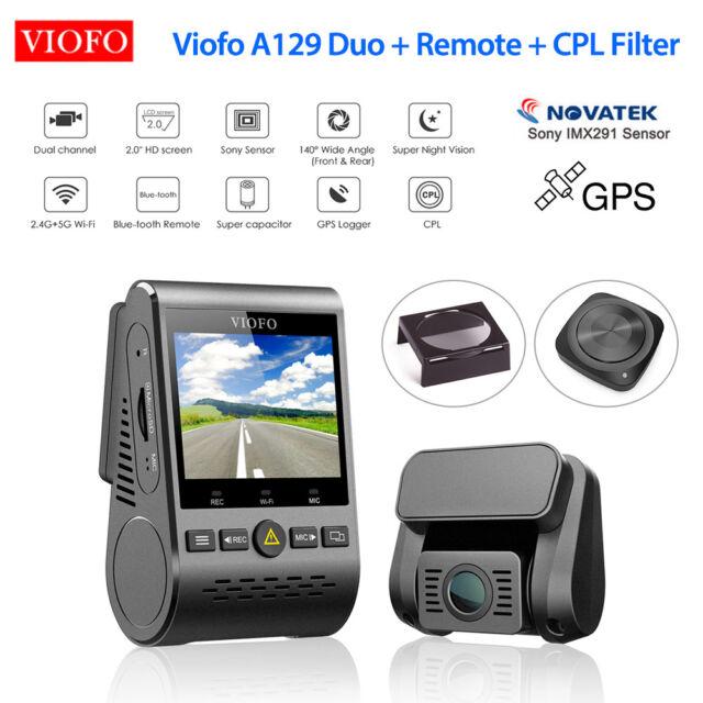 Viofo A129 Duo HD 1080P Dual Lens G-Sensor Wifi GPS Dash Camera & Remote + CPL