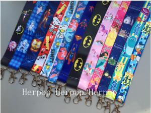 50pcs Popular cartoon Neck Strap Lanyard Key chain Phone Card Badge Holder