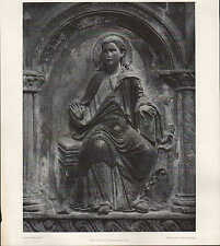Lithografie: Fotografie Chorschranken-Relief-Plastik Spät-Romantik, Stuck