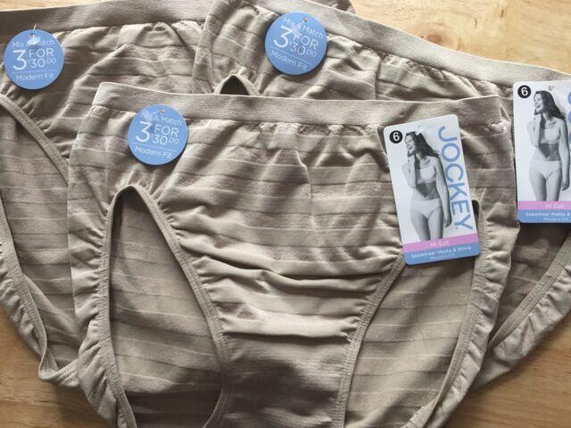 93ed9ad6ba58 JOCKEY ~ Comfie Matte Shine Hi Cut ~ Women's Underwear Panty ~ Sz 6 ~ Style