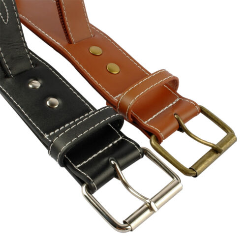 Quick Control Real Leather Dog Collars with Handle Dog Training Collar for Boxer
